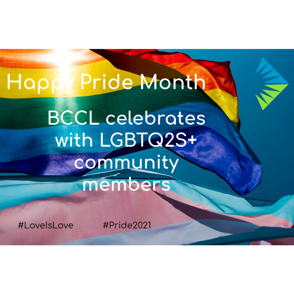 Happy Pride Month, BCCL celebrates with LGBTQ2S+ community members